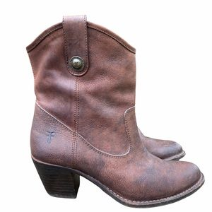 Frye Jackie Button Boots Short in Brown Size 6